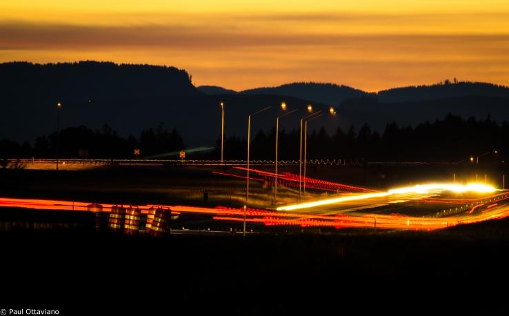 Sunset Landscape Photo Highway