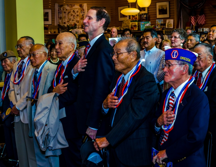 Congressional Gold Medal ceremony photo in Portland Oregon