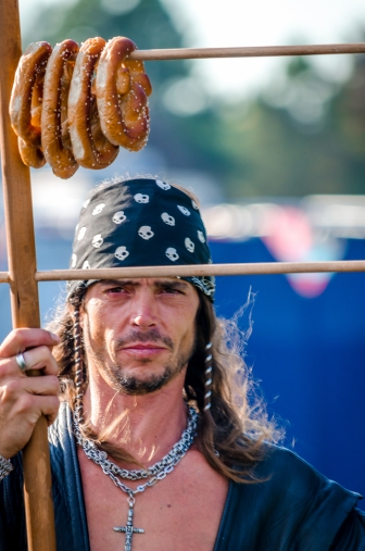 pretzel merchant photo Oregon Renaissance Festival of Hillsboro