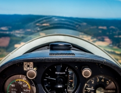 Willamette Valley Glider Club cockpit aerial photo