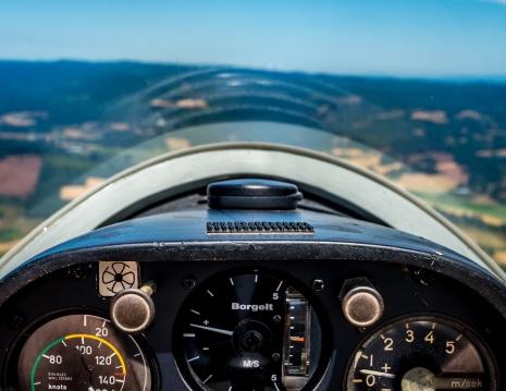 Willamette Valley Glider Club cockpit aerial photo