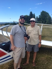 selfie photo of paul ottaviano and glider pilot