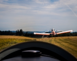 Willamette Valley Glider Club cockpit point-of-view aerial photo