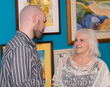 Zack Clark and Linda Holland photo at First Tuesday Art Walk Hillsboro