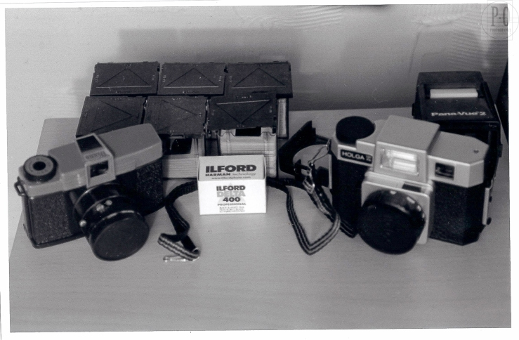 soft-focused black and white photo of the Holga and Diana camera by Paul Ottaviano