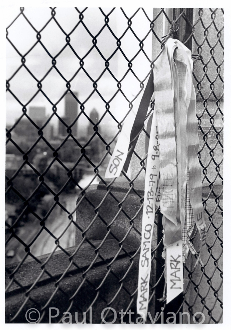 Memorial on Vista Bridge Portland Oregon. Black and white street film photography by Paul Ottaviano