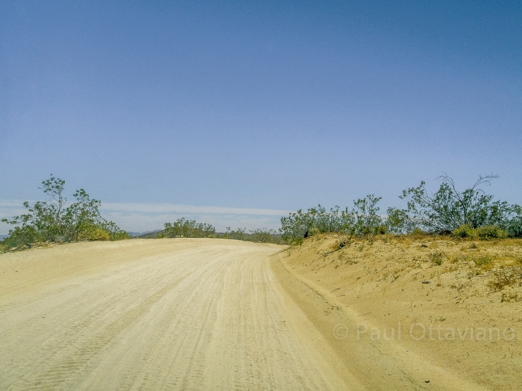landscape photo of dirt road in the Mojave Desert Landers California