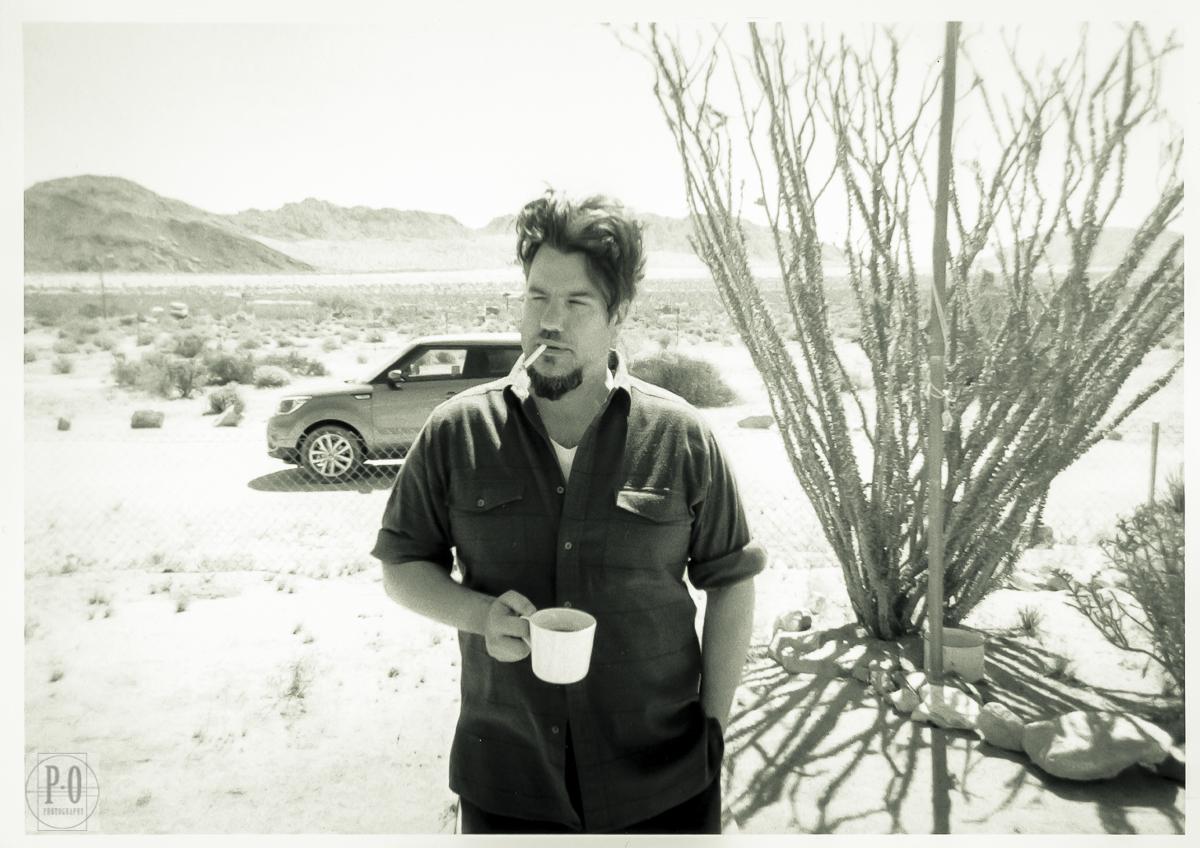 black and white film photo portrait