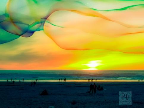 sunset beach landscape photo seaside oregon