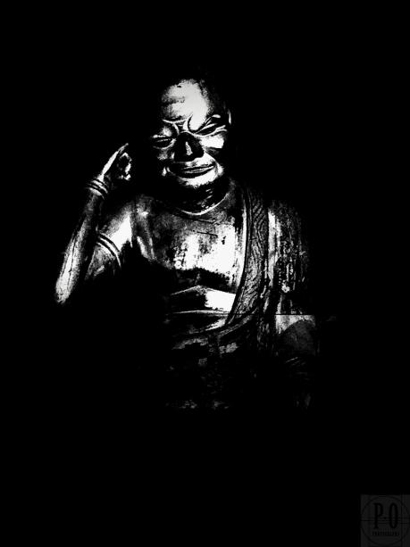 photograph of buddha disciple statue hoonji temple